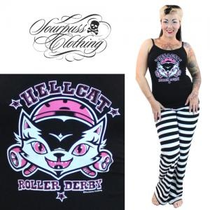 Sourpuss Hellcat Roller Derby Pyjamas