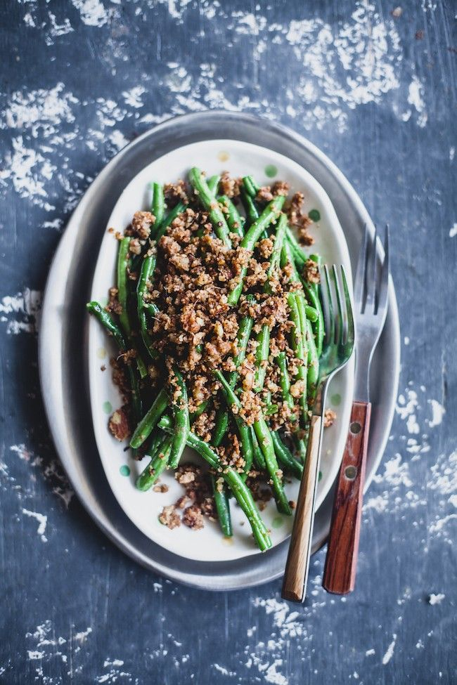 Almond and Coconut Crusted Green Beans | Playful Cooking