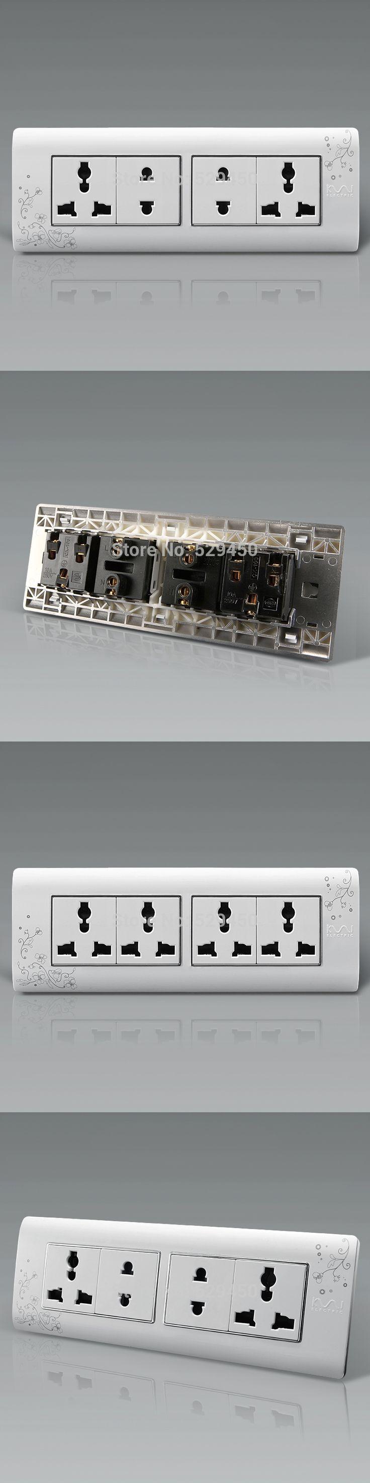 Universal Plug Kempinski Luxury Wall Electrical Socket, Multi-function 12 / 10 hole power outlet