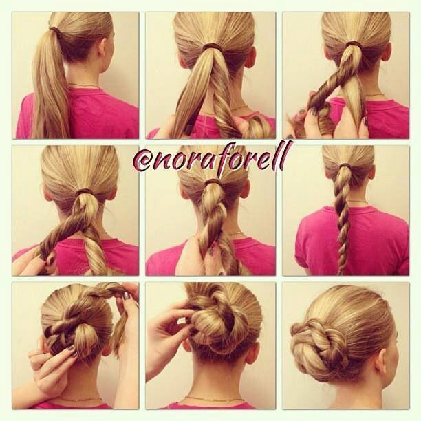 Quick and easy hairstyles*