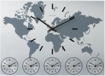 12 best Time Zones Wall Display images on Pinterest Clock wall