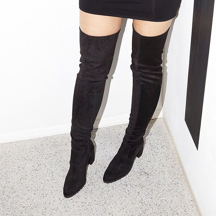 Get The Pins Out In Our Ka Pow Over Knee Boots Black