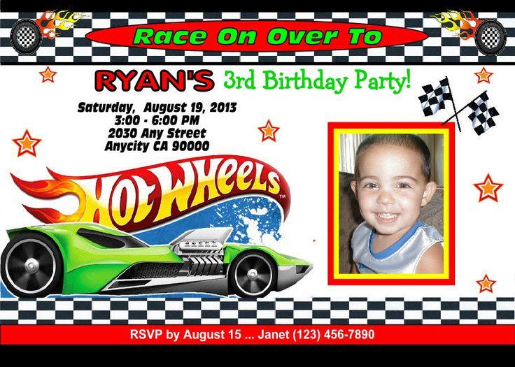 Hot Wheels Birthday Party Invitation Versions To Choose From - Hot wheels birthday invitation how to make