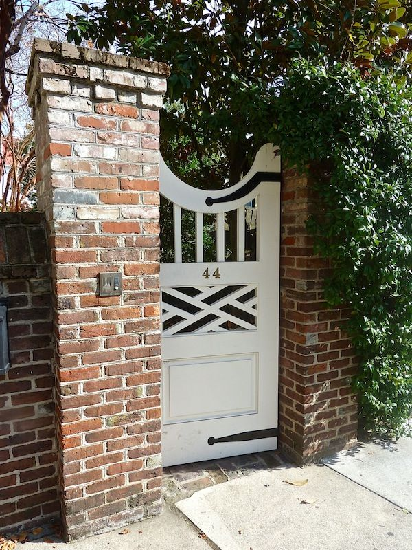 Pretty gate in charleston via quintessence for the for Wood garden gate designs