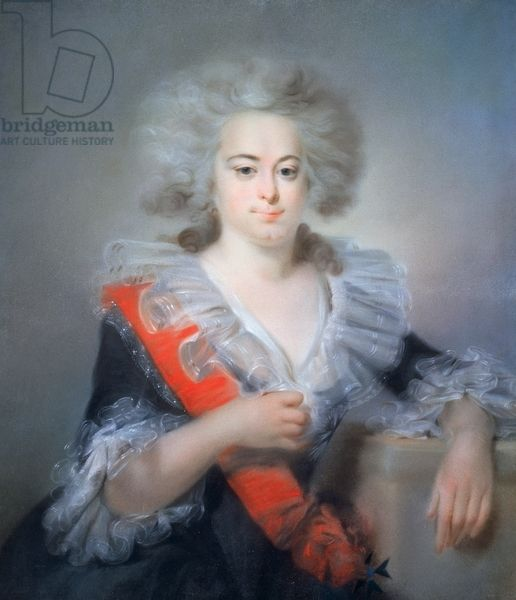NOT Portrait of Sophia Augusta Frederica of Anhalt-Zerbst or Catherine II, also known as Catherine the Great (Stettin, 1729-Pushkin, 1796), Empress consort of Peter III of Russia (1728-1762), painting by Johann Baptist Lampi I (circa 1751 -1831), pastel
