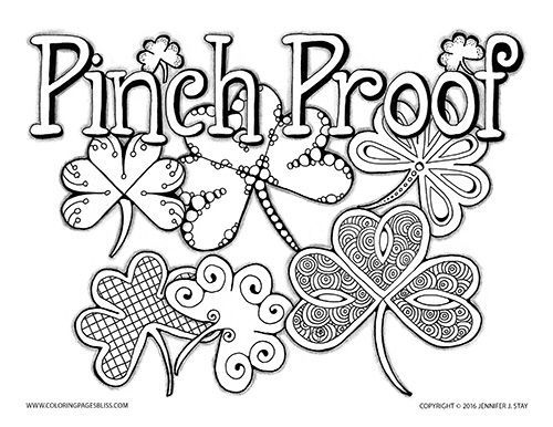 coloring pages for adults and grown ups make sure you are pinch proof this st patricks day by coloring this printable coloring page full of details