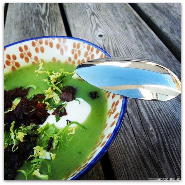 ROSENKÅL....! HIT ELLER SKIDT?  Denne rosenkålsuppe smager altså super godt! - selv ungerne var begejstrede!  Et billigt, nemt og mættende aftensmåltid! *Med i næste uges madplan*.  www.sundpaatilbud.dk