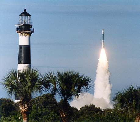 Cape Canaveral Lighthouse, i wsnt on the base, but i actually got to c the last launch of the spaceshuttle Atlantis...awesome