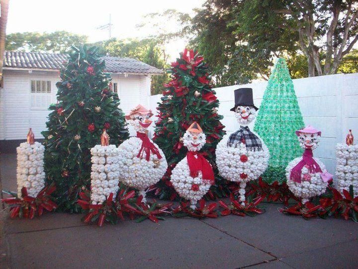 DECORAZIONI NATALE IN GIARDINO FAI DA TE  Natale  Pinterest  Tes ...