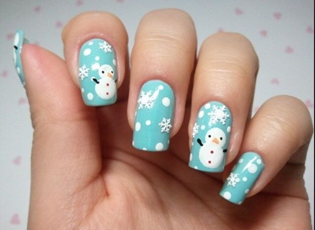 winter/nails/snow