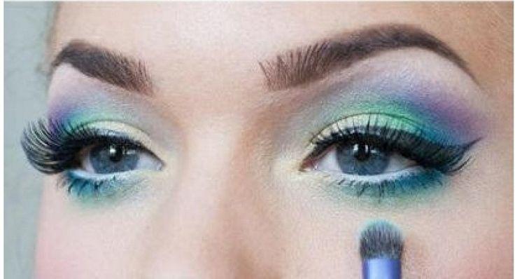 Maquillaje estilo sirena.
