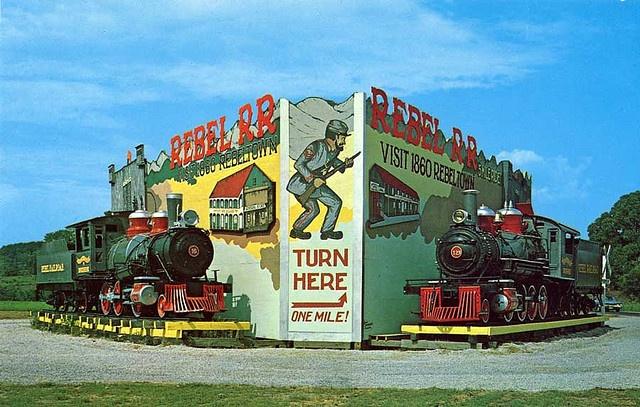 Rebel Railroad Theme Park A Civil War Era Theme Park Pigeon Forge Tennessee Tennessee