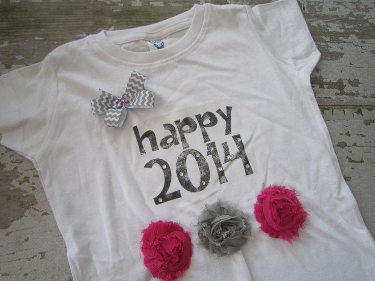 Happy 2014 New Years Tshirt. $11.99, via Etsy.