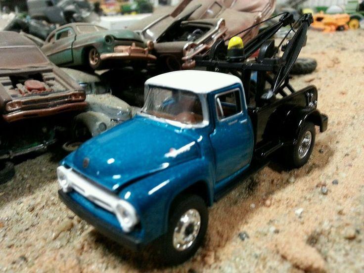 Custom Pickup Trucks >> Custom scratch built 1:64 1956 FORD Tow Truck wrecker junk yard farm diorama dcp | diorama ...