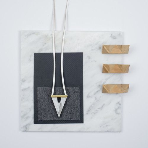 Rill Rill Necklace No 1 White Marble | nana & bird - Only Curating What We Love