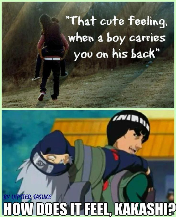 Hahah poor Kakashi I loved when Lee told Neji to get on him so he could carry Neji and Neji just said No way in hell.. XD You gotta love Neji