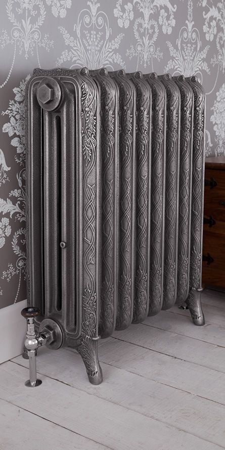 cast iron radiator, antique, home, antique radiator, traditional home, traditional radiator - our beautiful 4-column ribbon radiator! Boasting a high heat output thanks to its many columns. This radiator is alive with stunning decoration
