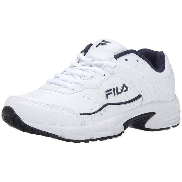Fila Men's Memory Sportland Running Shoe (225 SAR) ❤ liked on Polyvore  featuring men's fashion, men's shoes, men's athletic shoes, shoes, white,  me…