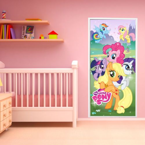 Big Photo Hasbro My Little Pony Door Mural Home Interior Decoration Wall Paper