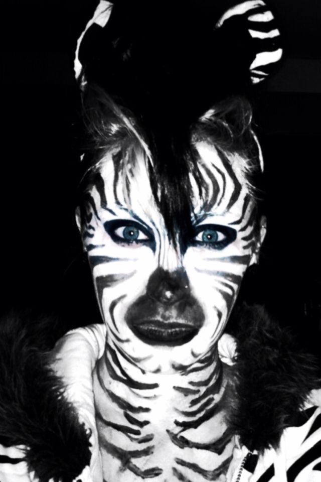 best 25 zebra makeup ideas on pinterest zebra face. Black Bedroom Furniture Sets. Home Design Ideas