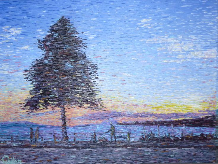 Impressionist coastal oil painting by Chris Quinlan Art