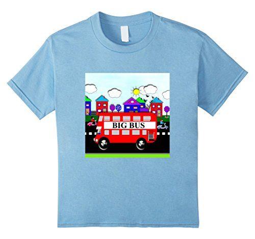 kids cute whimsy big bus kids little city t sshirts 4 bab