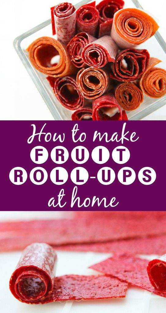 Fruit Roll-Ups | Make fruit roll-ups at home! There are only a FEW ingredients and these are totally healthy. No preservatives or added sugar!