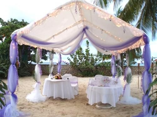 Tulle tent decorations birthday pinterest pavilion for Outdoor party tent decorating ideas