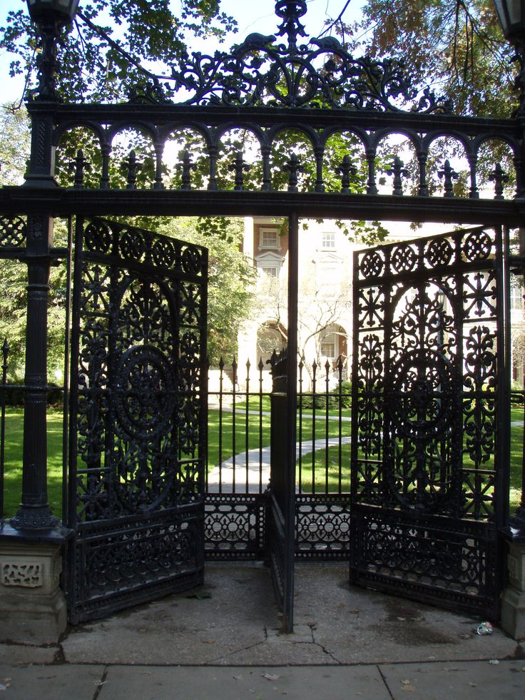 'Cow catcher gates' at Osgoode Hall (Queen Street West and University Avenue)
