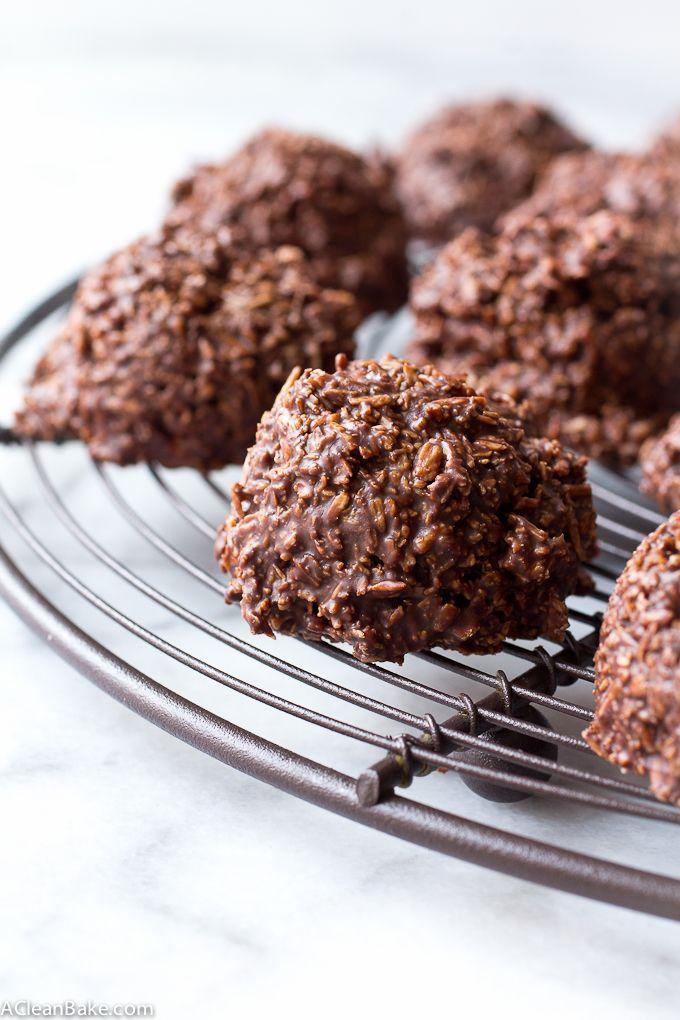 No-Bake Chocolate Macaroons HealthyAperture.com