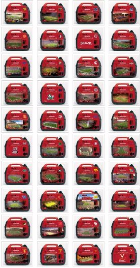 Long Island Power Equipment East  631-293-0777 http://www.lipowerequipment.com/  Honda EU2000i generator skin kits. Collegiate, NFL and NASCAR skins available. See your Honda dealer for details.