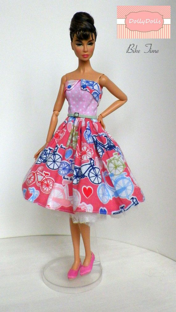 SALE Téa Time. Strapless Dress for Barbie doll by