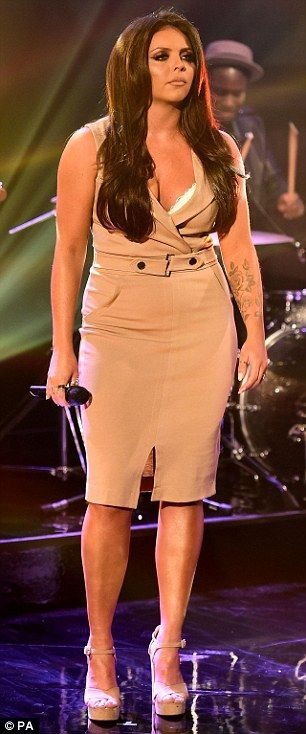 Fearless fashion: Leading the way in the style stakes were Perrie Edwards, Leigh-Ann Pinno...
