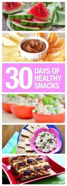 Check out this fabulous 30-day healthy snack list!