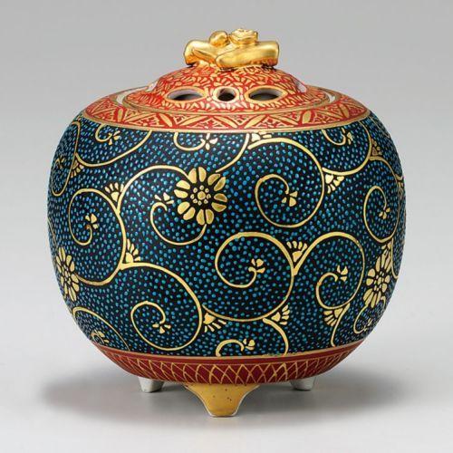 Kutani Porcelain Japanese Incense Burner Shinpei Aotibu H11CM | eBay