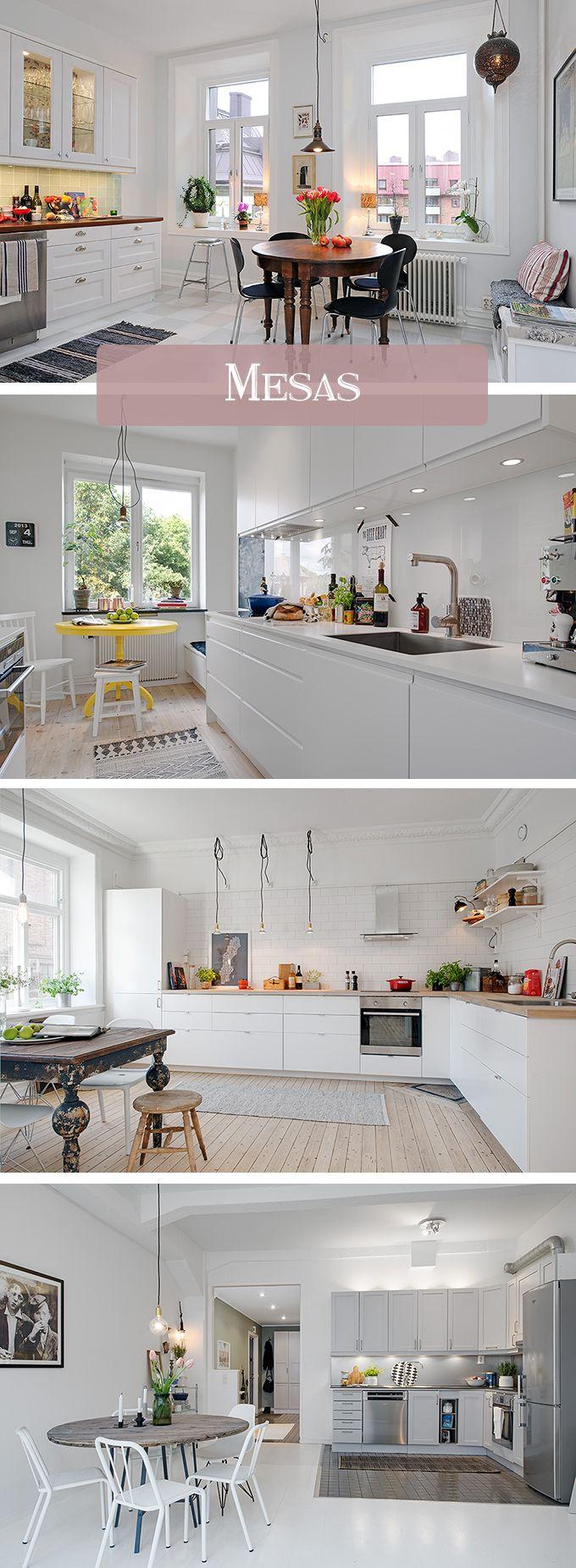 Una cocina nórdica mola... pero si ya tiene algún toque vintage nos roba el corazón. Ideas para incluir muebles antiguos en casa.