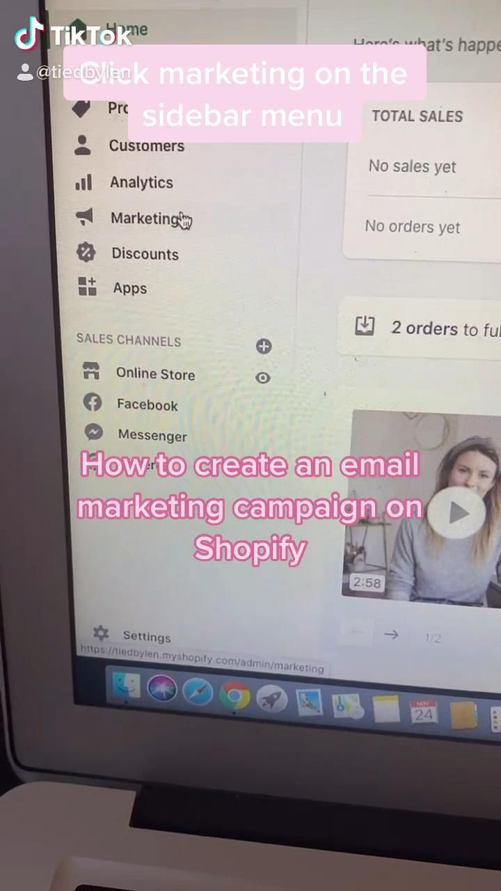How To Create An Email Campaign On Shop A Phi Tiktok Small Business Video Small Business Marketing Shopify Business Small Business Advice
