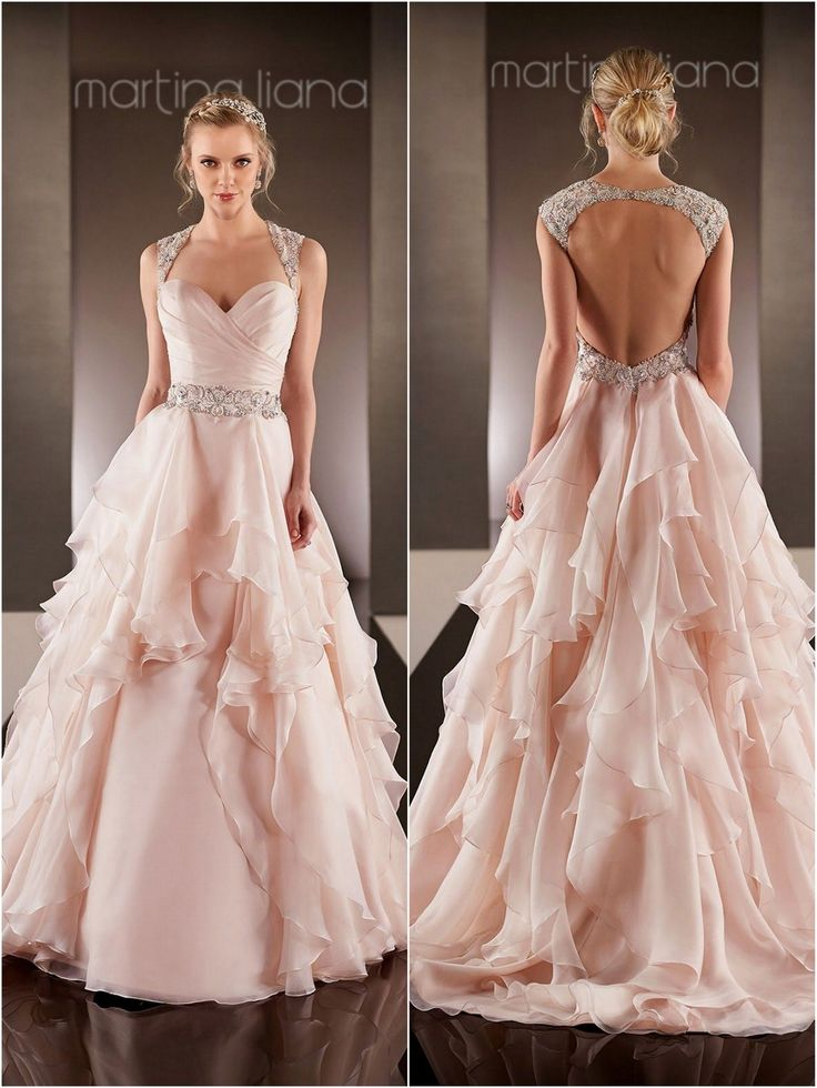 Best 25 Blush wedding gowns ideas on Pinterest Pink wedding