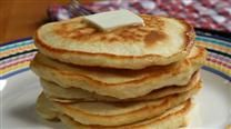 Good Old-Fashioned Pancakes:  1 1/2 cups all-purpose flour  3 1/2 teaspoons baking powder  1 teaspoon salt  1 tablespoon white sugar  1 1/4 cups milk  1 egg  3 tablespoons butter, melted