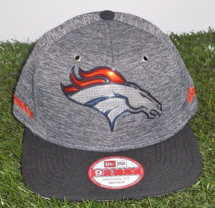 Denver Broncos New Era Heathered Gray Black 2016 NFL Draft 9Fifty Original  Fit  NewEra  DenverBroncos  660adf5a1e2