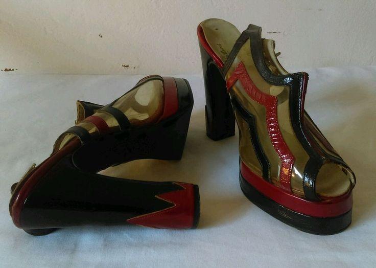 """SUPER RARE 70's Terry De Havilland Peeptoe Platform 5"""" Heels - Vintage - Disco #TerryDeHavilland #Heels"""