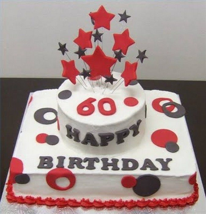 Happy Birhtday Cake For Old Women And Men Birthday 60th Idea Ucakedecoridea Com Designs Inspiration Cakes
