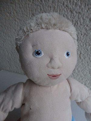 IKEA Stoffpuppe Puppe Junge Baby ca. 45 cm. Hose Hellblau