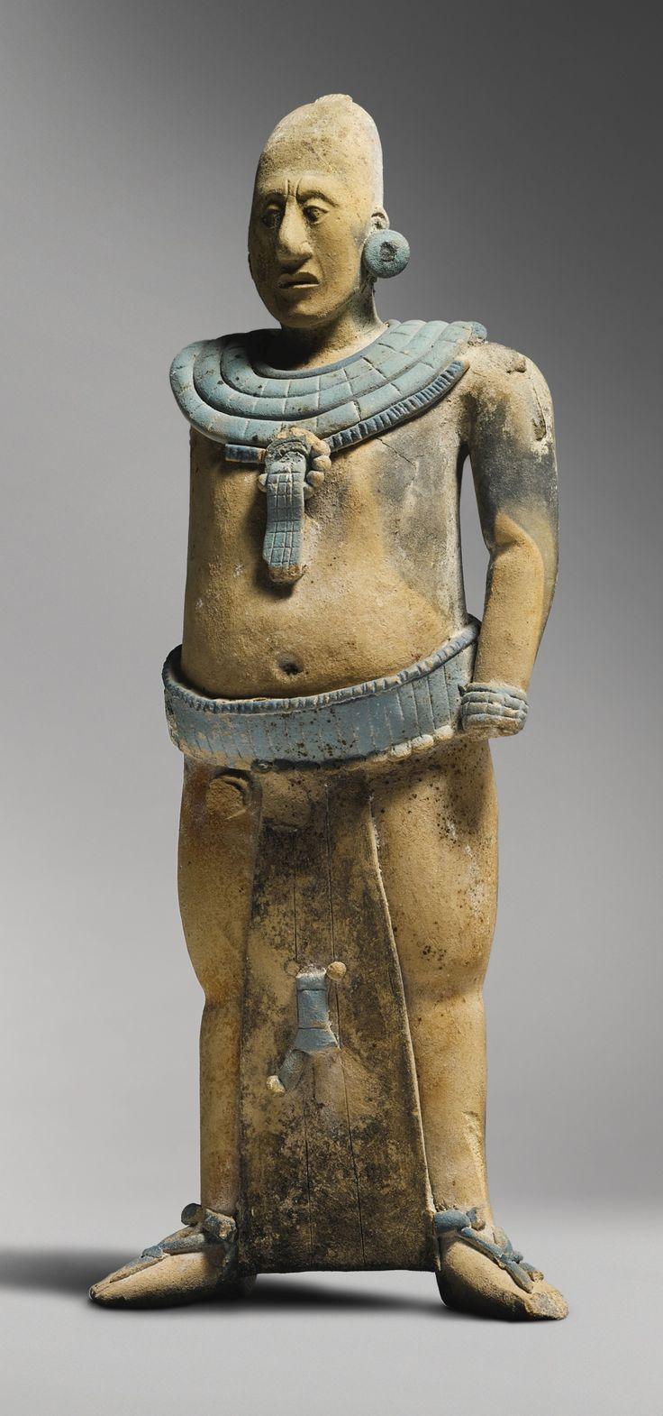 Fine Maya Standing Figure of a Nobleman, Jaina<br>Late Classic, ca. A.D…