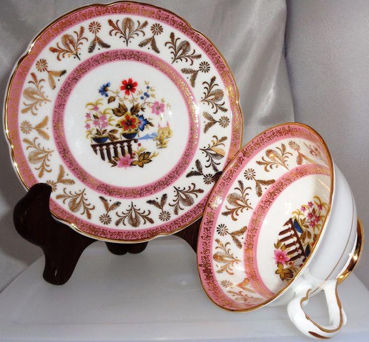 Vintage Antique Royal Grafton Fine Bone China Teacup & Saucer Gold England #1846 #RoyalGrafton