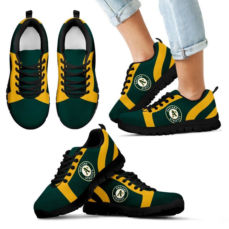 Line Inclined Classy Oakland Athletics Sneakers – Best Funny Store