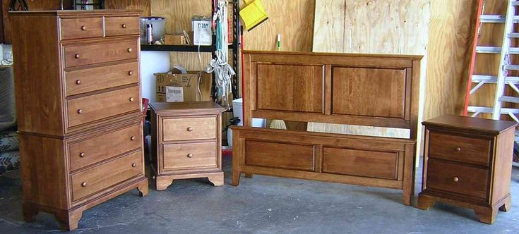building solid wood bedroom furniture have cupboard and bedroom vanity with drawers also 2 wood nightstand