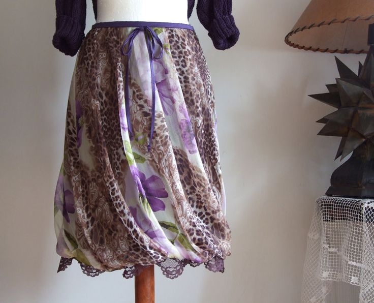 Floral puffy skirt baloon skirt leopard print and by couvert, $80.00