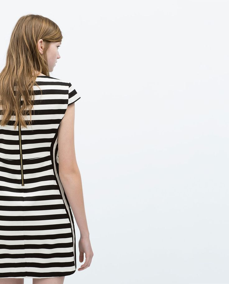 STRIPED DRESS WITH FLARED SKIRT-Trf-Dresses-WOMAN | ZARA United States