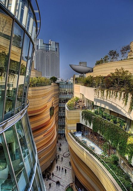 Namba Parks is a combination of 3 elements: a mall, a park, and a circulation space flowing through it. The mall resembles the idea of a sma...